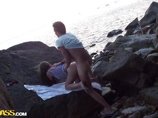 Реальный секс на пляже